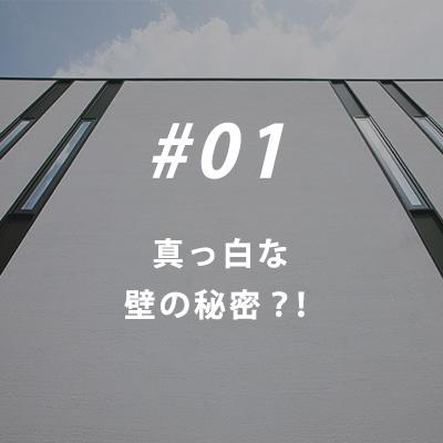 01真っ白な壁の秘密?!